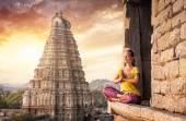 Meditation in India — Stock Photo