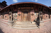 Temple on Durbar square in Patan — Stock Photo