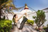 Yoga in Nepal — Stock Photo