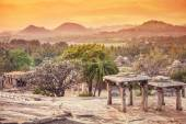 Nature and ruins in Hampi — Stock Photo