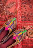 Ethnic Rajasthan shoes — Stock Photo