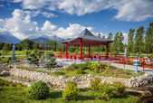 Japanese garden in Almaty — Stock Photo