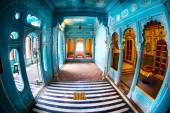 Blue rooms in City Palace — Stock Photo