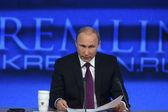 Portrait of Vladimir Putin president of Russia — Stock Photo