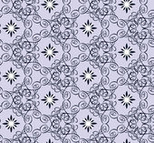 Seamless pattern with curls on lilac background — Vettoriale Stock