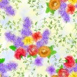 Seamless pattern with a bouquet of flowers  on a light  backgrou — Stock Photo #70646065