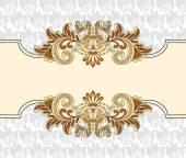 Marco decorativo en estilo vintage — Vector de stock