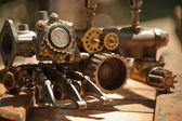 Des instruments vintage et pièces industrielles — Photo