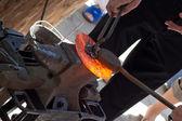 Hard work of master blacksmiths — Stock Photo
