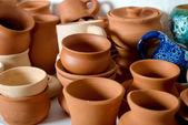 Pots background — Stock Photo
