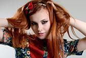 Rood haar meisje — Stockfoto