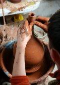 Potter auf der Arbeit — Stockfoto