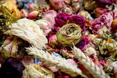Dried roses. Valentines background. — Stock Photo