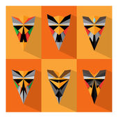 Mask Of Fear — Stock Vector