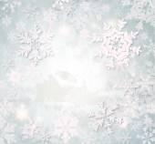 Fondo de copos de nieve de navidad — Foto de Stock