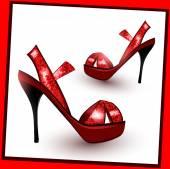Red fashion heels — Cтоковый вектор