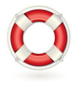 Red and white Lifebuoy — Stock Vector