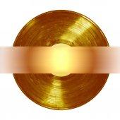 Gold vinyl banner — Stockfoto