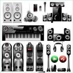 Set of speakers — Stock Vector #65522137