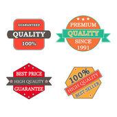 Vetor de qualidade de etiquetas para a etiqueta, comércio, lojas — Vetor de Stock