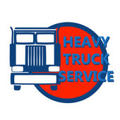 Vector illustration design banner for hevy truck — Stock Vector