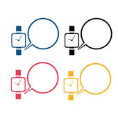 Vektorový obrázek ikony designu moderní inteligentní hodinky — Stock vektor