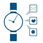 Vector illustration icon design modern smart watch — Stock Vector