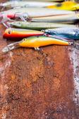 Selectieve aandacht close-up visserij aas weifelaar — Stockfoto