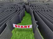 Frightful maze — Stock Photo
