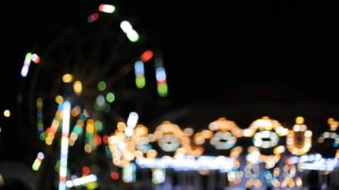 Carousel lights bokeh — Stock Video