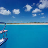 Caribbean sea travel on catamaran — Стоковое фото