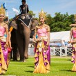 Thai dancers dancing — Stock Photo #60364589