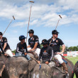 Players at elephant polo games — Stock Photo #60365153