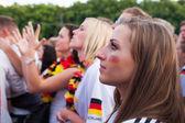 German football fans on Euro 2012 — Stock Photo