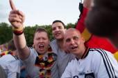немецкие фанаты футбола на евро 2012 — Стоковое фото
