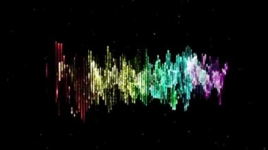 Colorful high-tack audio waveform — Wideo stockowe