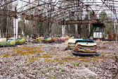Abandoned amusement park in Pripyat ghost town, Chernobyl Nuclea — Photo