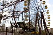 Ferris wheel in Pripyat ghost town, Chernobyl Nuclear Power Plan — ストック写真