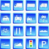 Road signs ,Vector illustration — Stock Vector
