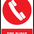 Fire phone emergency sign — Stock Vector #52640855