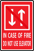 In case of fire do not use elevator — Vetorial Stock
