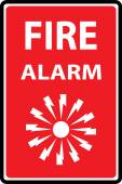 Fire alarm emergency signs — Vetorial Stock