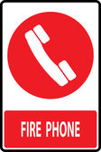 Fire phone emergency  sign — Vetorial Stock