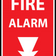 Fire alarm emergency signs — Stock Vector #52706193