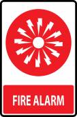 Fire alarm emergency signs — Stockvektor