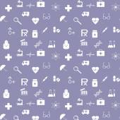 Medical seamless pattern — Stock Vector