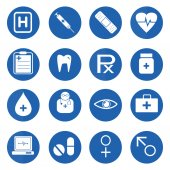 Medical and science icon set — Stock Vector