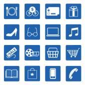 Vector collection of shopping icons set — Stock Vector