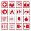 Metalic safety sign set — Stock Vector #64979673