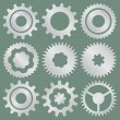 Vector collection of aluminum gear wheels — Stock Vector #67327963